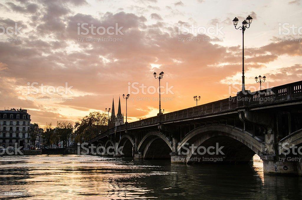 Bayonne at sunset stock photo