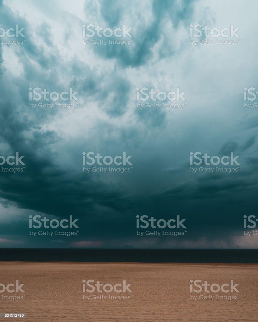Bayonne beach stock photo