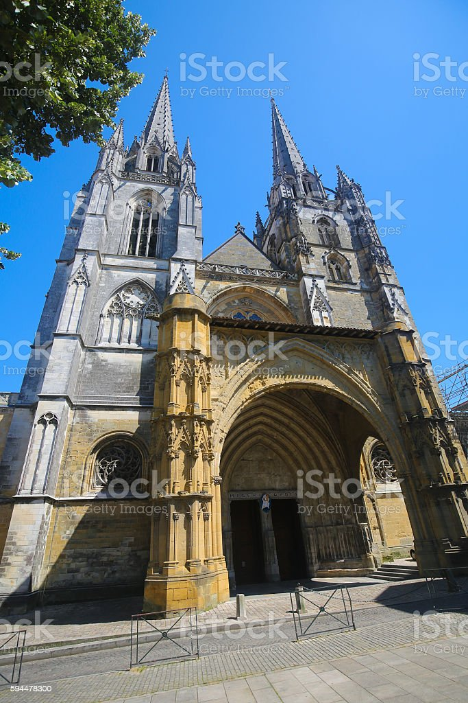 Bayonne Cathedral stock photo