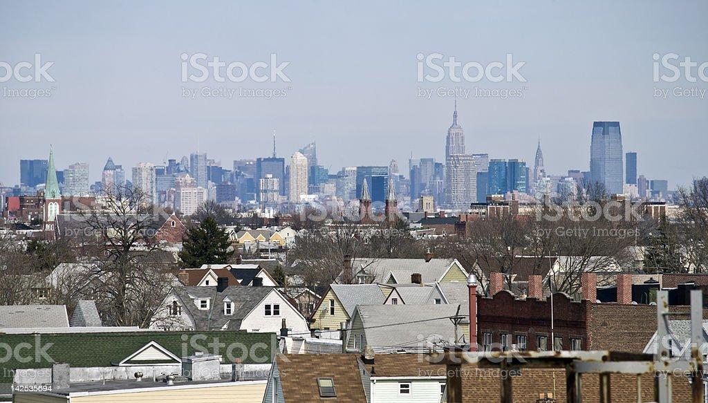 Bayonne City View stock photo