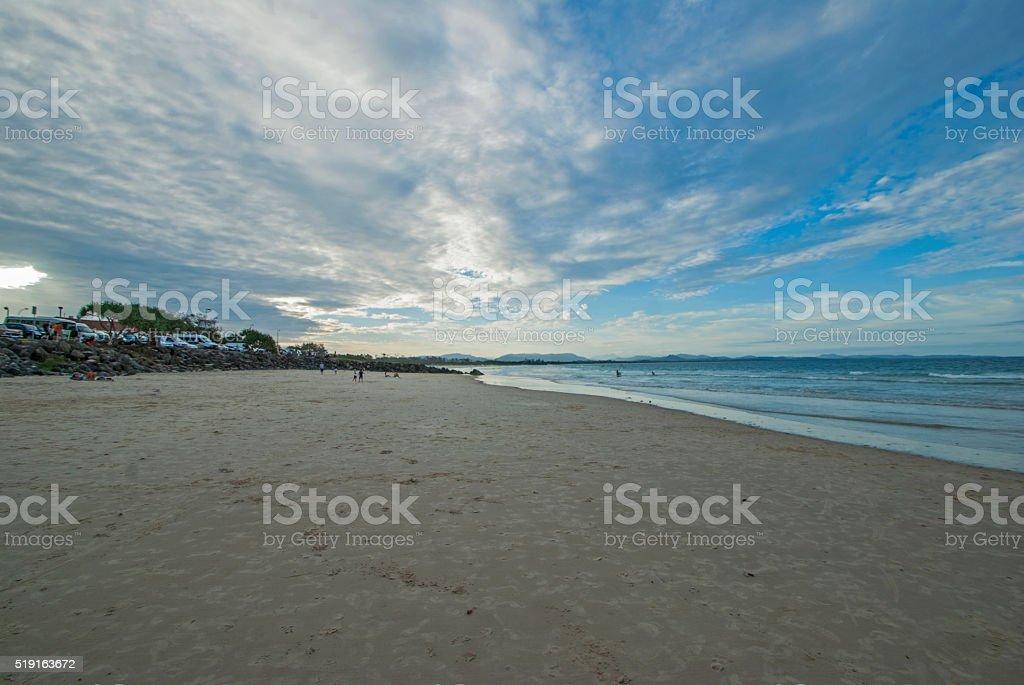 Bayron Bay beach stock photo