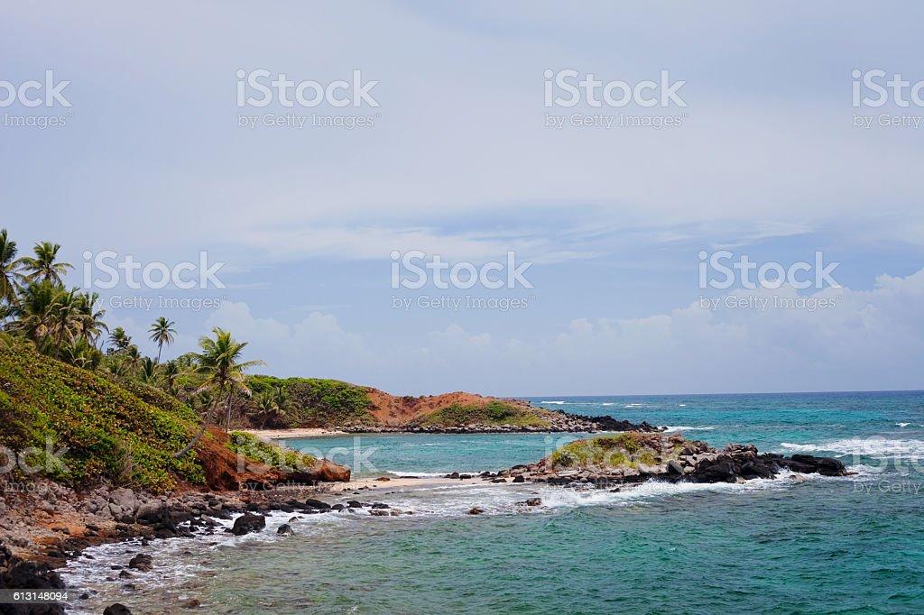 Bays on Little Corn Island stock photo