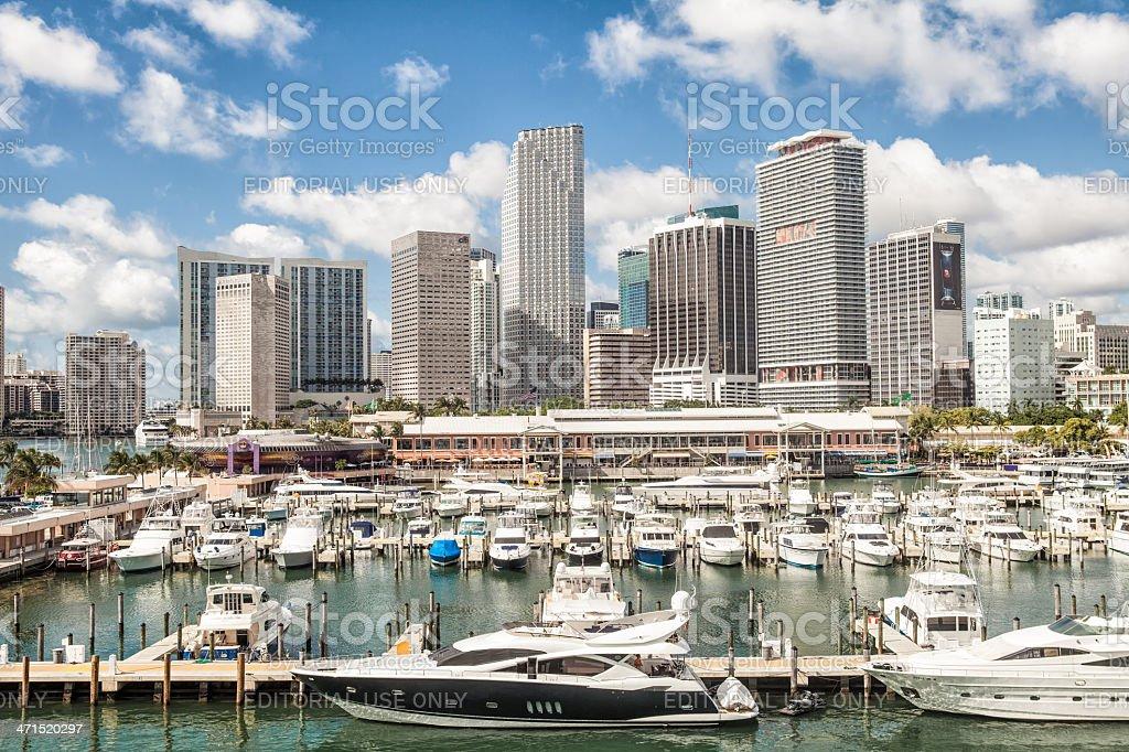 Bayside marina, Miami, Florida stock photo