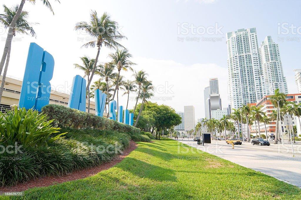 Bayside Miami stock photo
