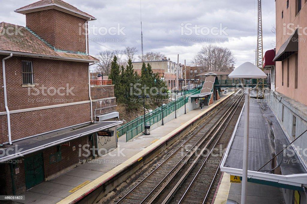Bayside Railroad Station stock photo
