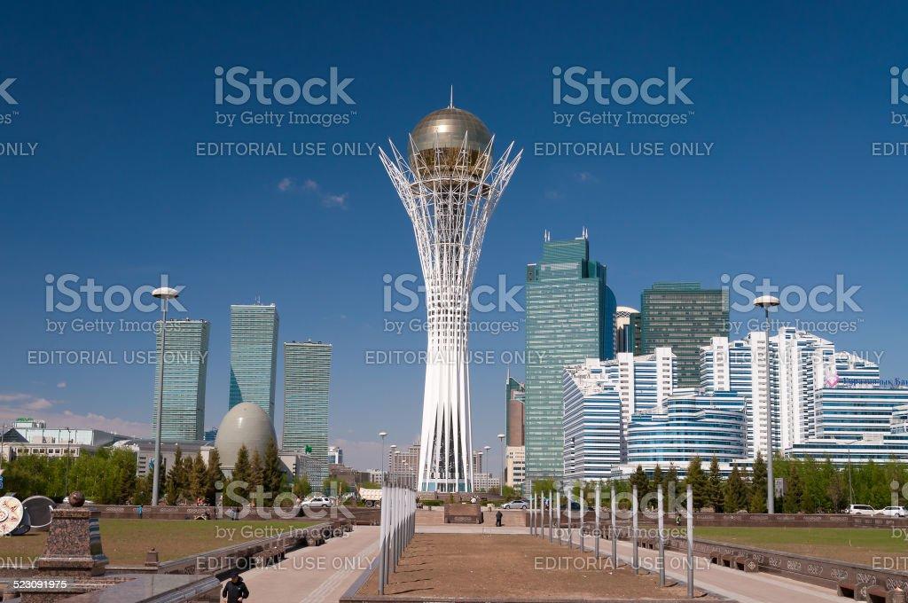 Bayterek is a monument in Astana. Kazakhstan stock photo