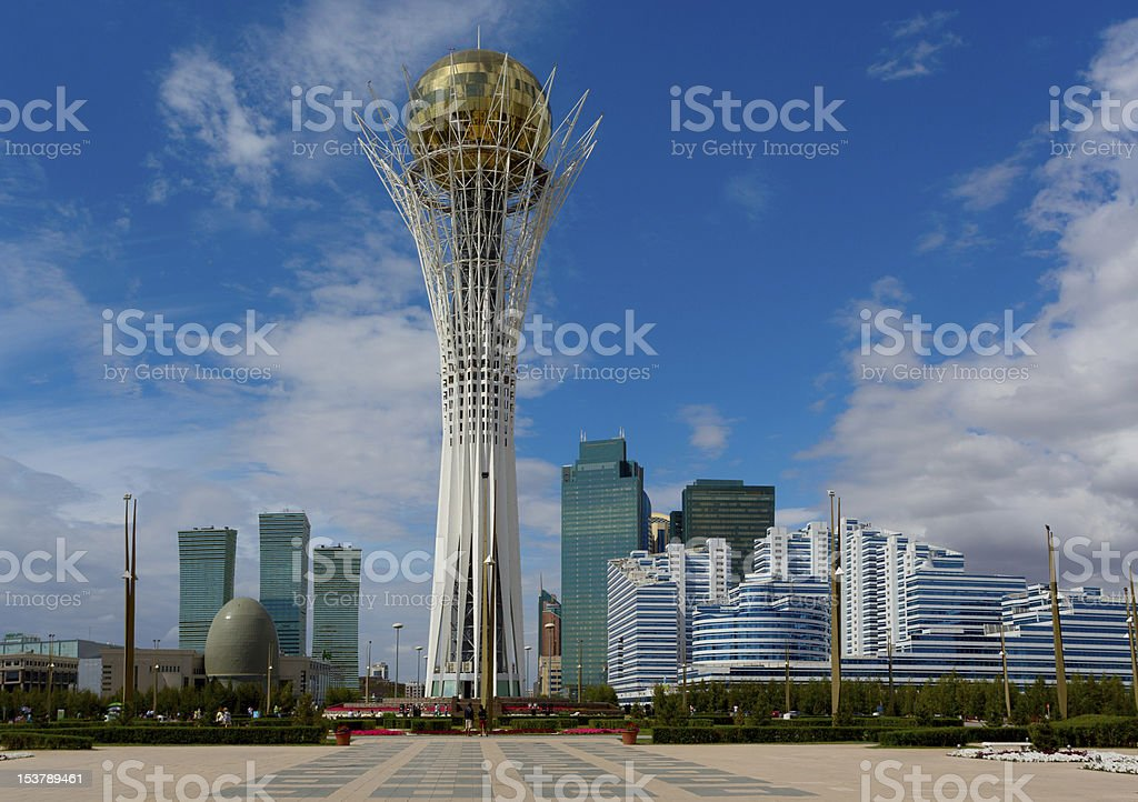 bayterek; kazakhstan; astana; building stock photo