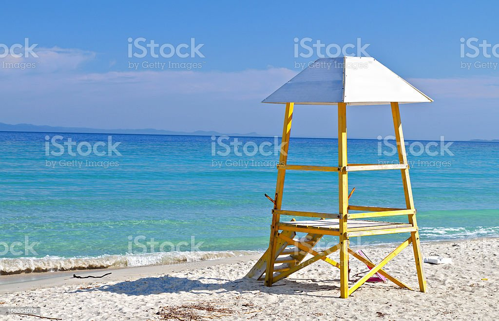Baywatch tower by the sea royalty-free stock photo