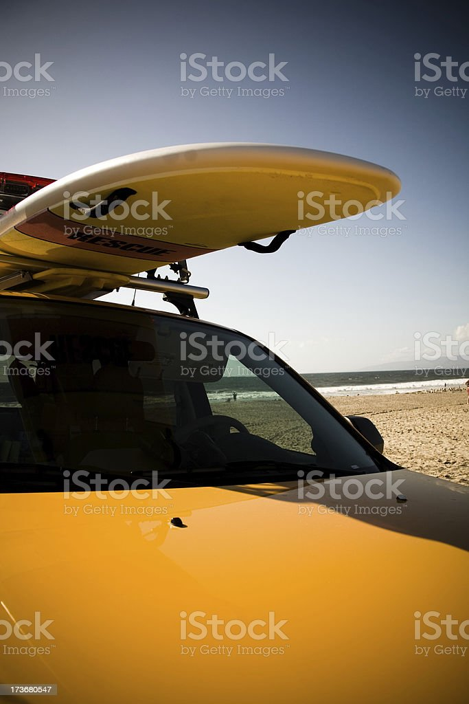 Baywatch truck on the beach royalty-free stock photo
