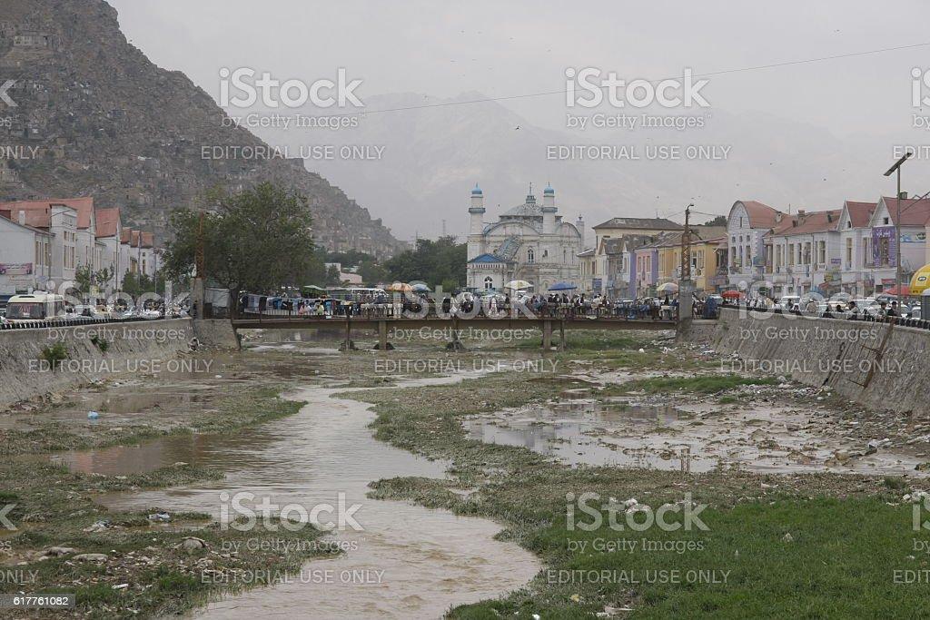 Bazaar area in Kabul, Afghanistan stock photo
