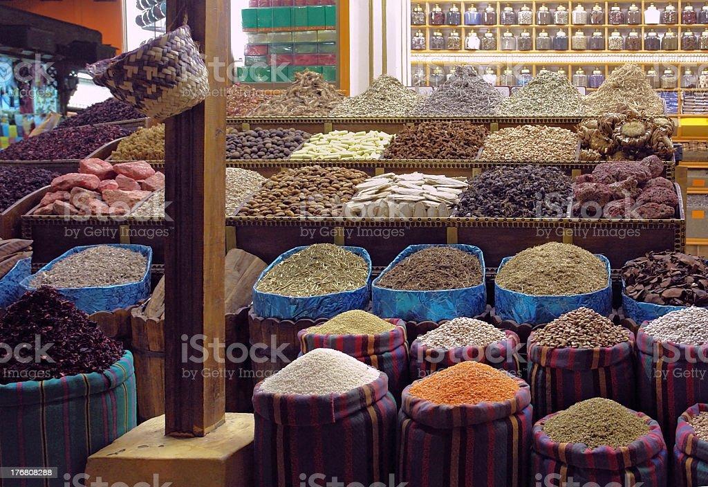 bazaar in Aswan royalty-free stock photo