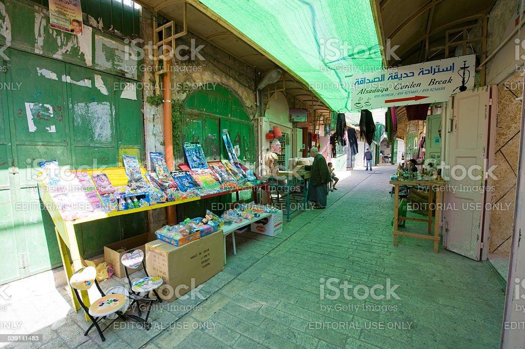 Bazaar in Hebron stock photo