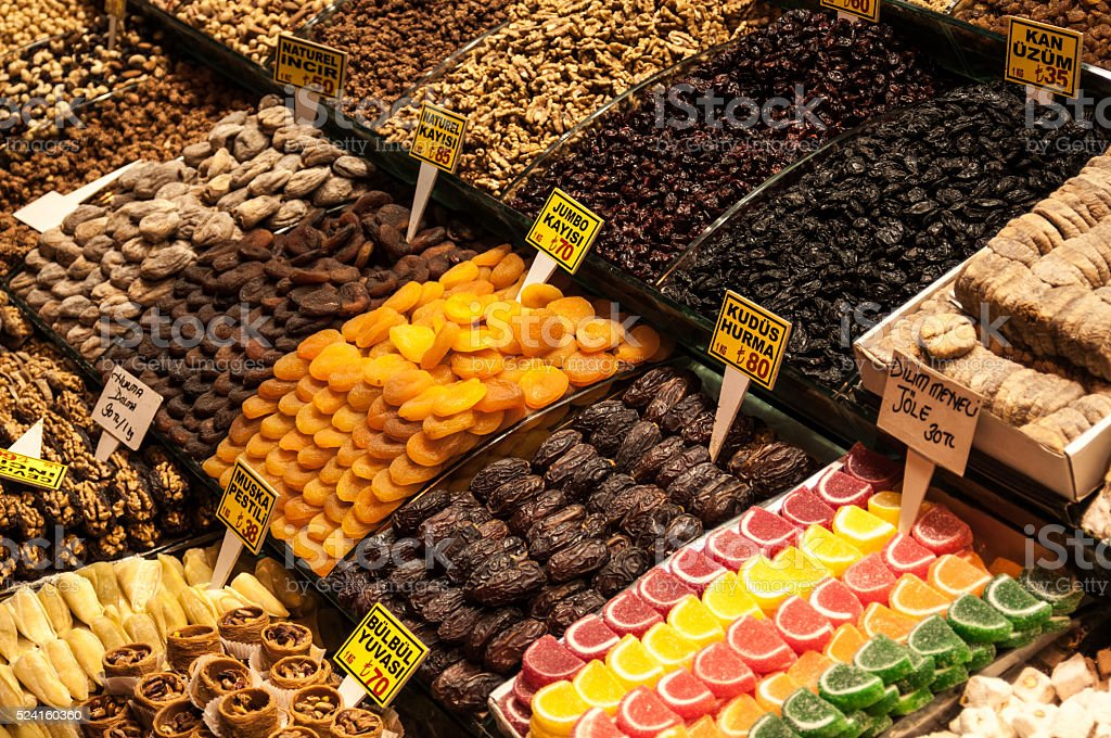 Bazaar in Istanbul stock photo