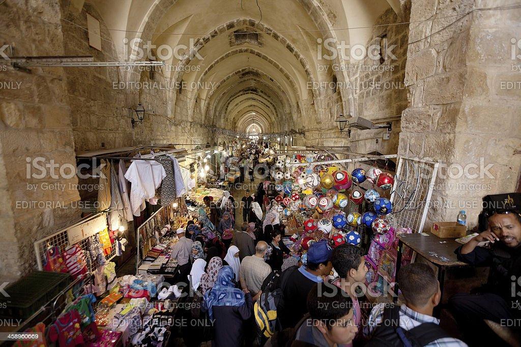 Bazaar in Jerusalem old city royalty-free stock photo