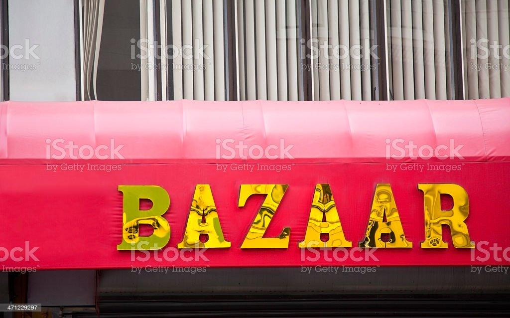 Bazaar Sign stock photo