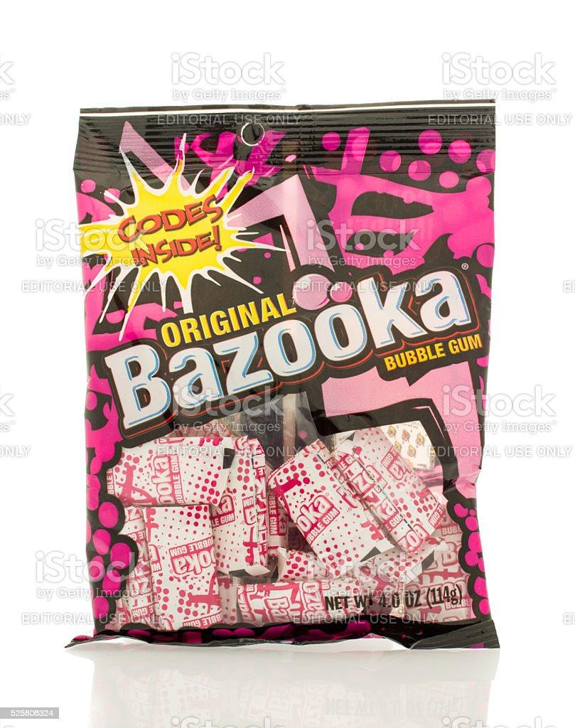Bazooka Bubble Gum stock photo