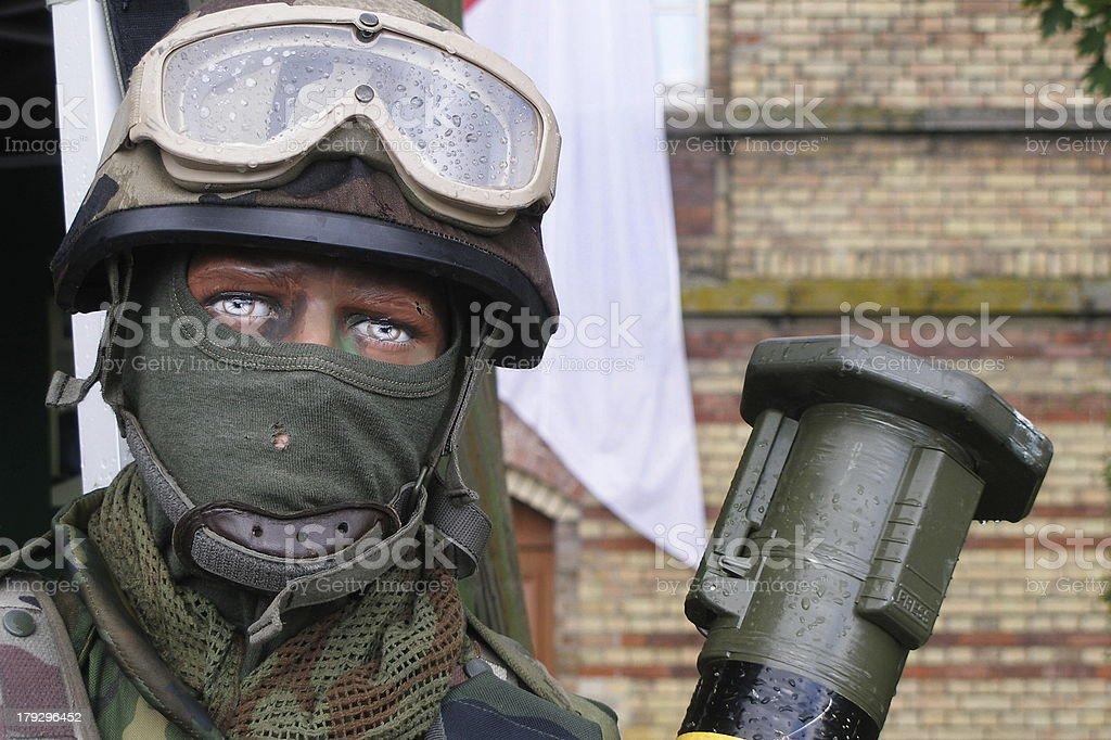 bazooka man royalty-free stock photo