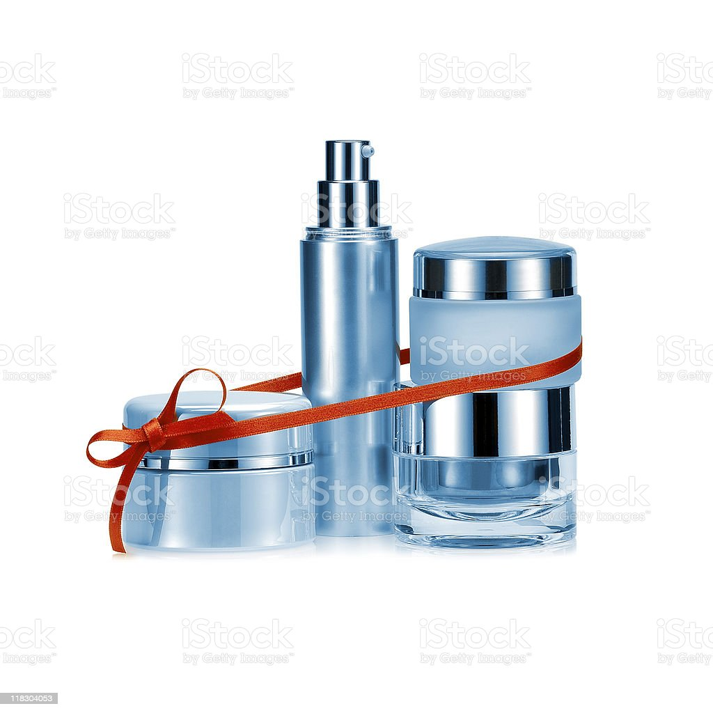 Bbeauty set gift in blue color royalty-free stock photo