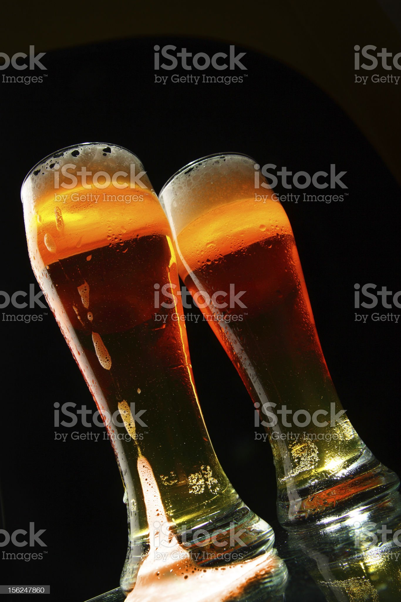 Bbeer with froth royalty-free stock photo