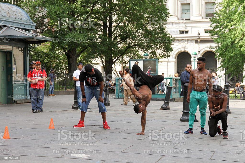 B-boys in Manhattan stock photo