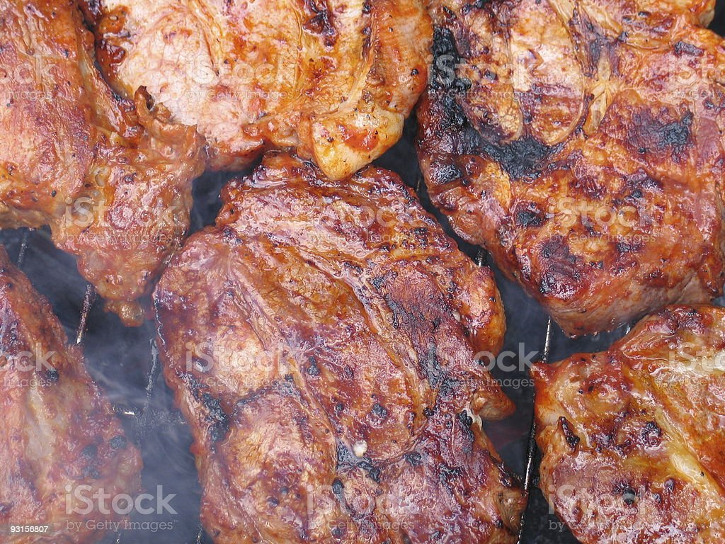 bbq meat royalty-free stock photo