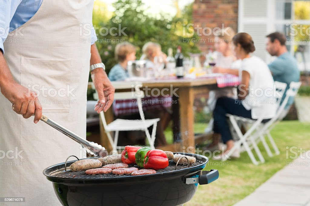 Bbq with family stock photo