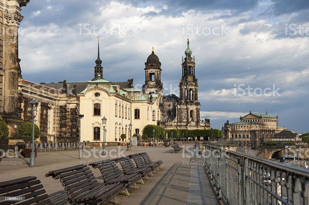 BBruhl Terrase in Dresden royalty-free stock photo
