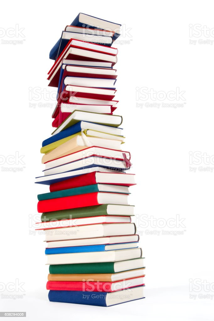 Bücherturm stock photo