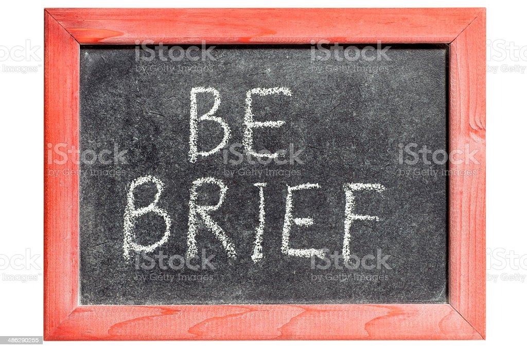 be brief royalty-free stock photo