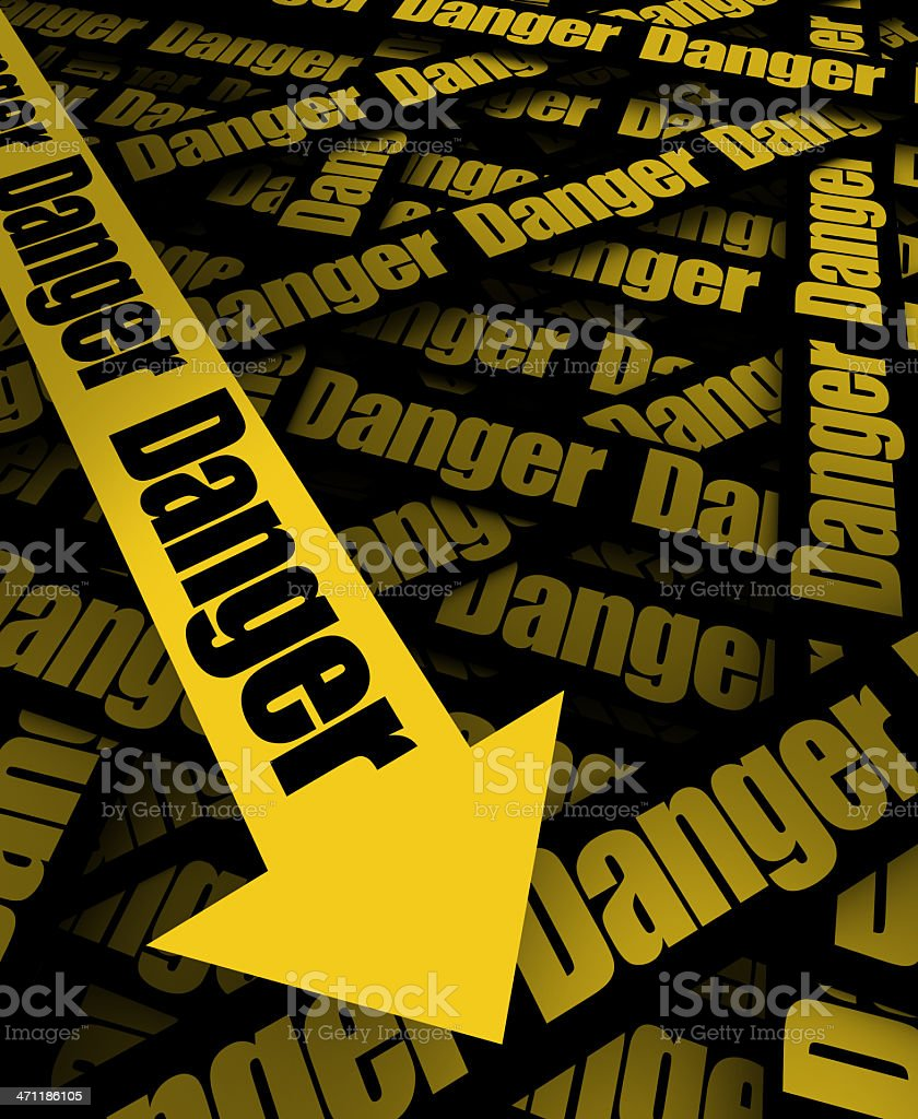 Be Careful, Danger ahead royalty-free stock photo