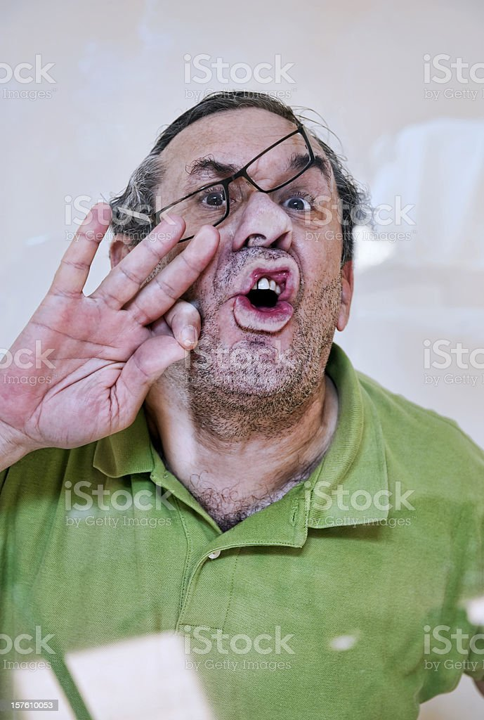 Be careful with  screen door stock photo