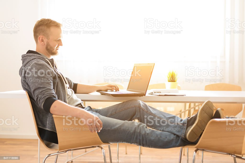 Be comfortable with your work stock photo