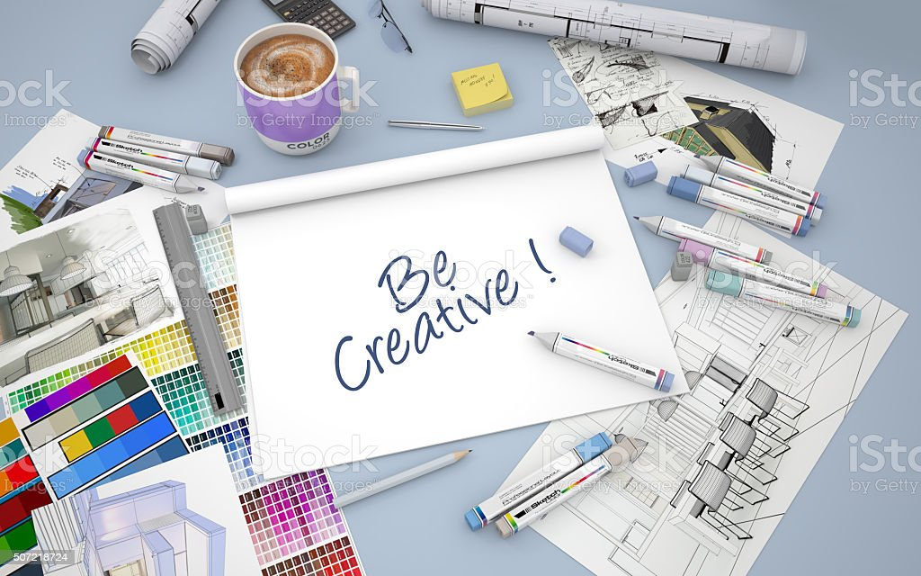 Be creative stock photo