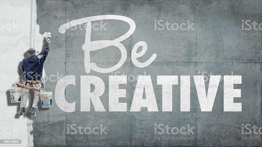 Be creative stock photo