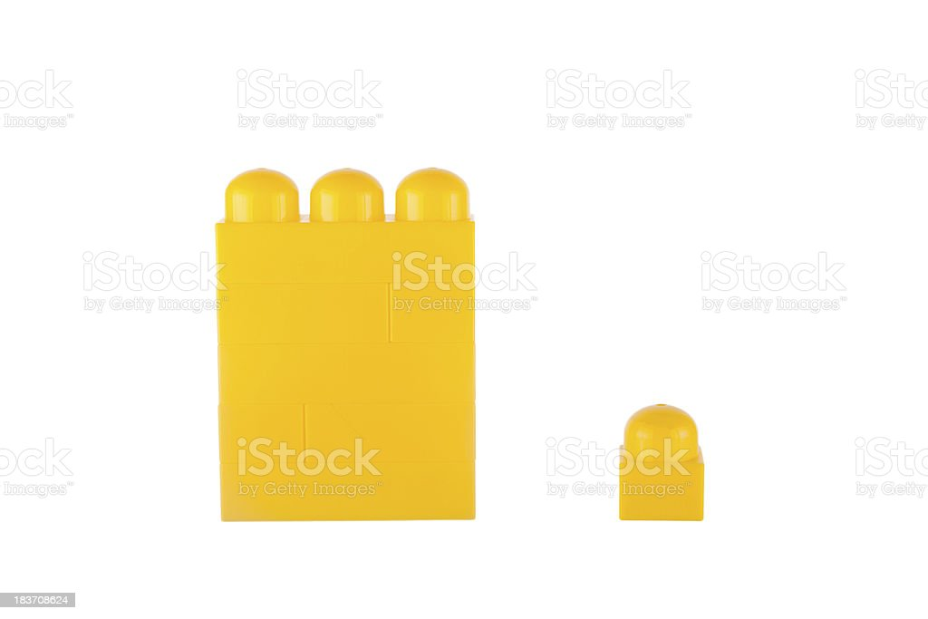 Be different made of toy blocks royalty-free stock photo