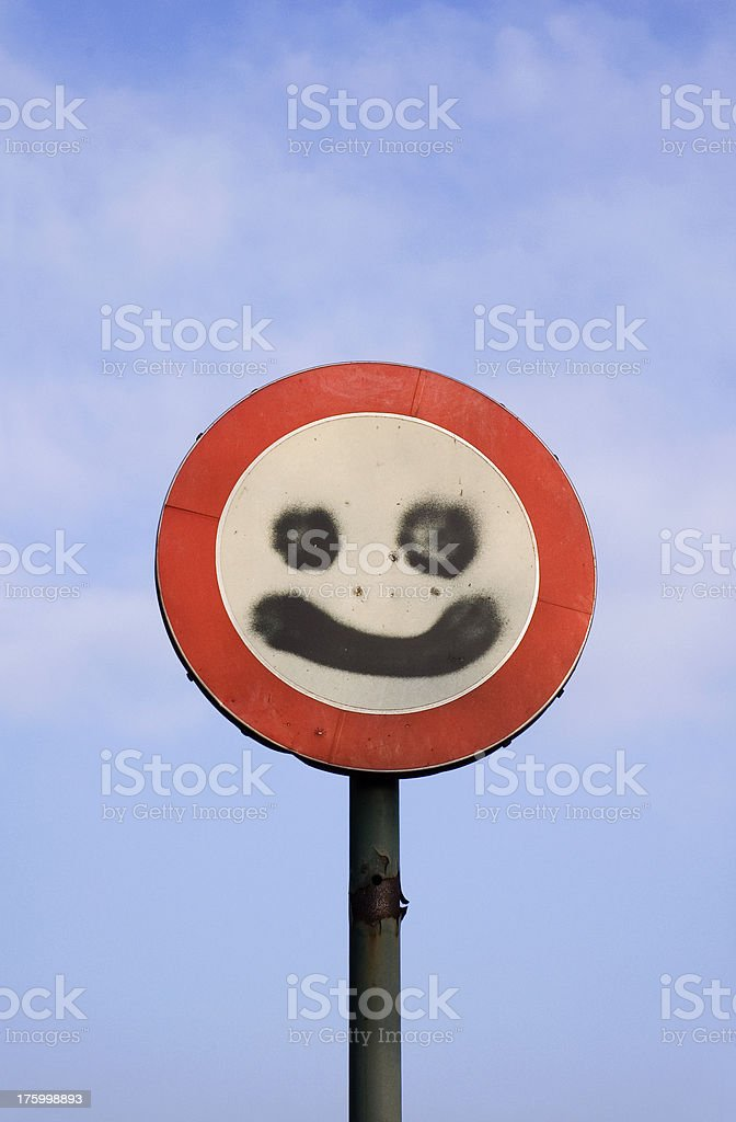 Be happy anyway royalty-free stock photo