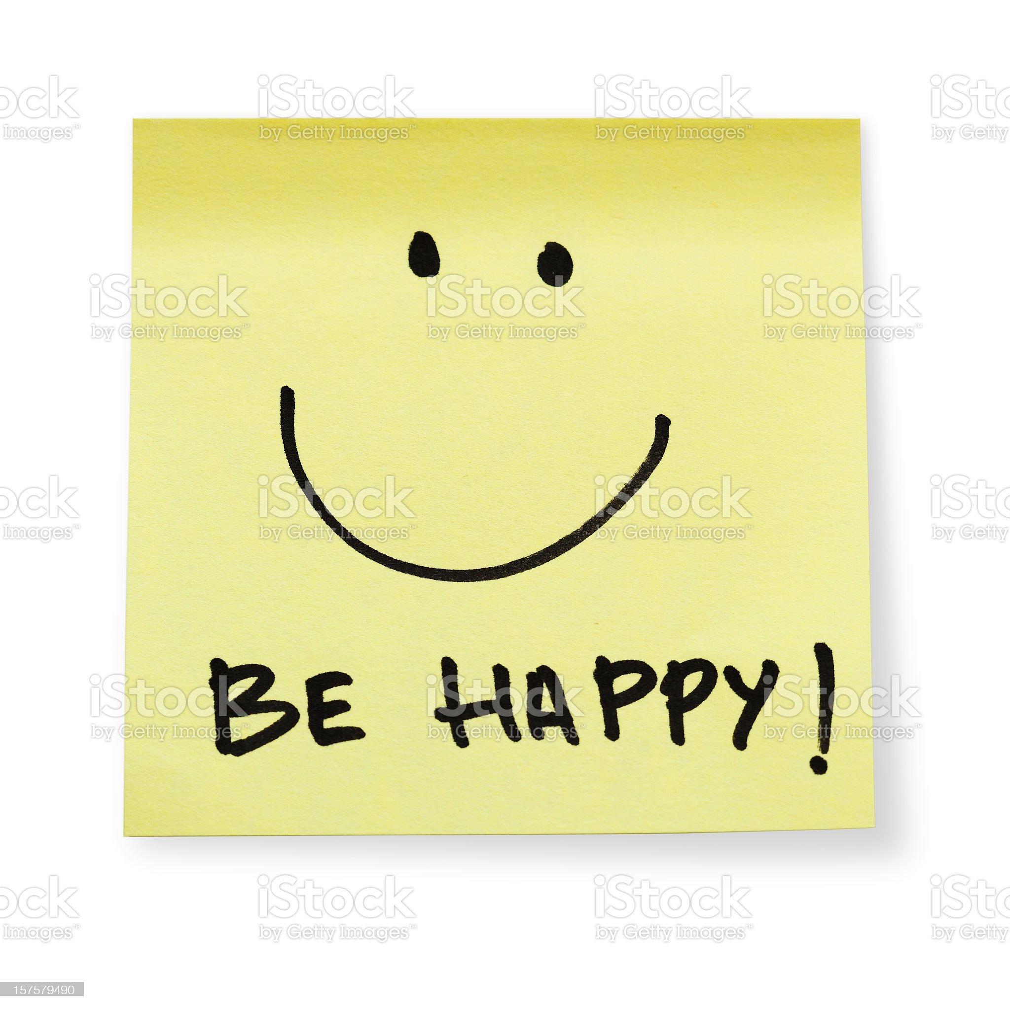 Be happy! royalty-free stock photo