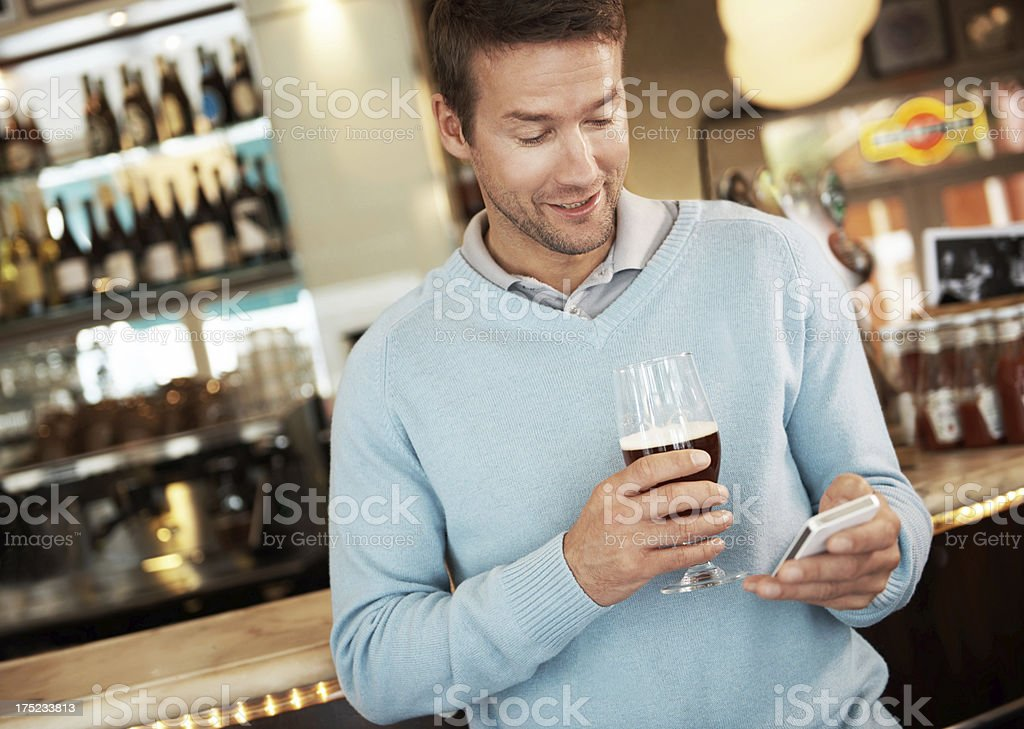 Be here soon...this brew is delicious! royalty-free stock photo