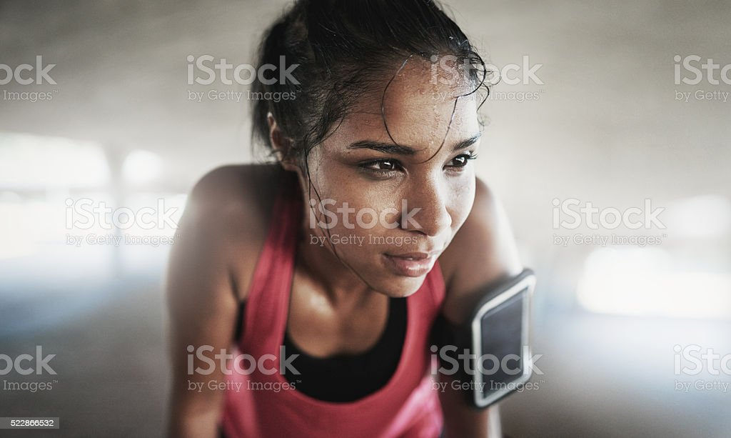 Be mentally stronger than what you physically feel stock photo