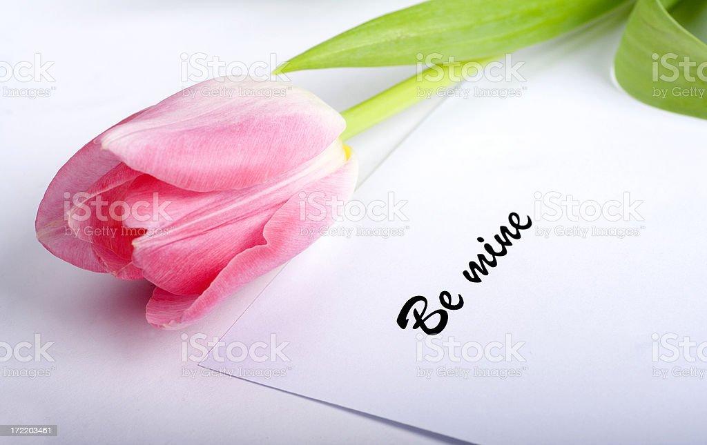 be mine - valentine royalty-free stock photo
