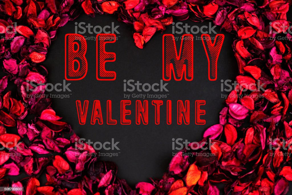 Be My Valentine Concept with Roses stock photo