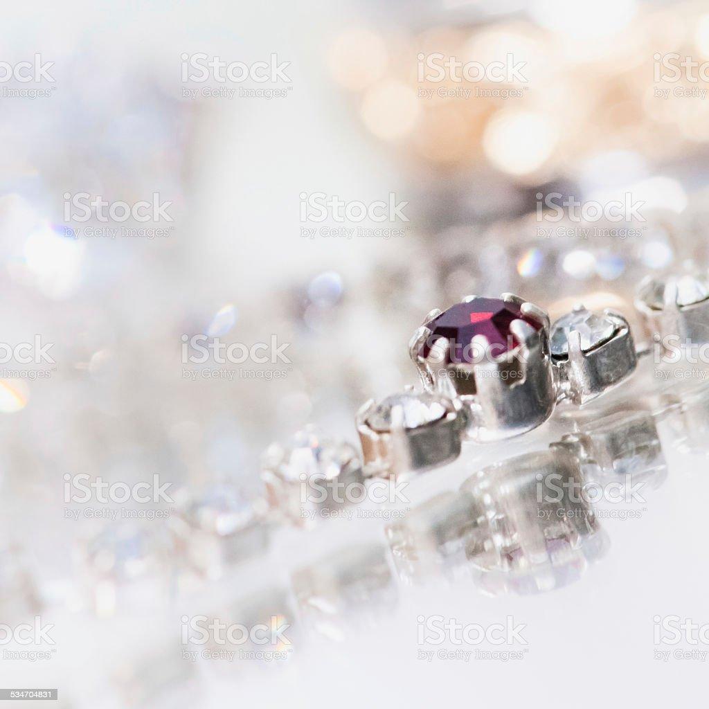 Be my Valentine - Jewelry necklace - ruby and diamonds stock photo