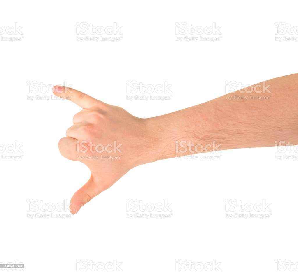 Be on call hand gesture isolated stock photo