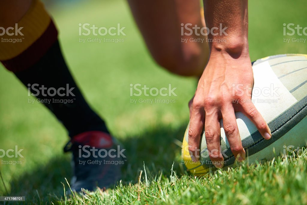 Be one with the ball... stock photo