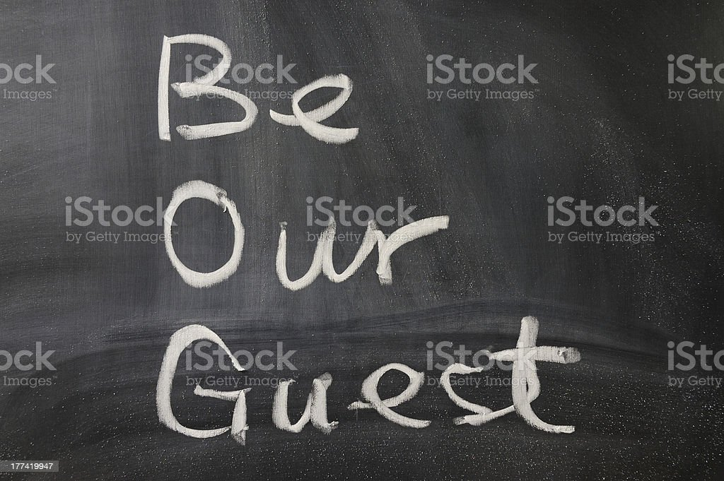 Be our guest stock photo