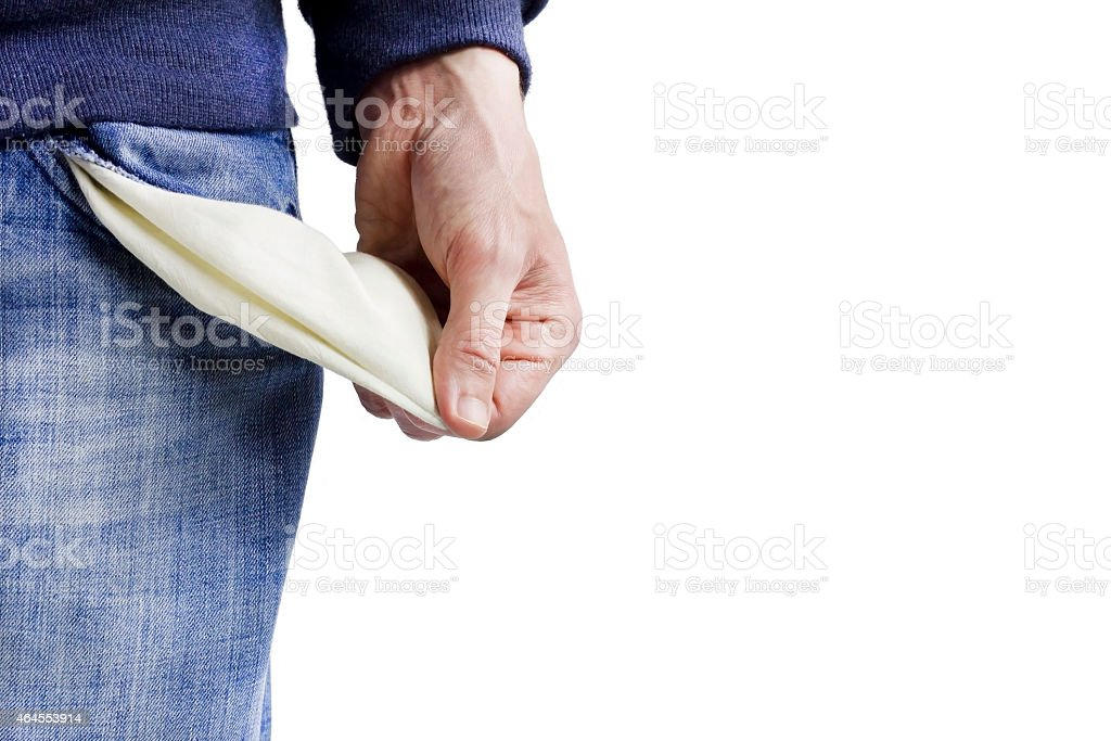 Be penniless stock photo