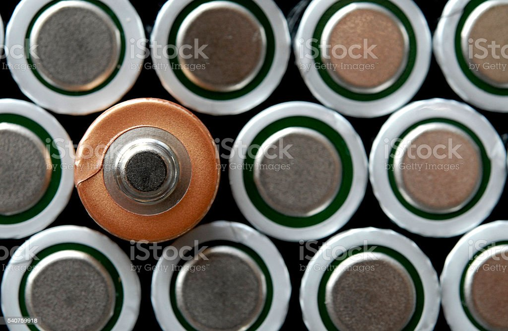 Be Positive - Battery Ends stock photo