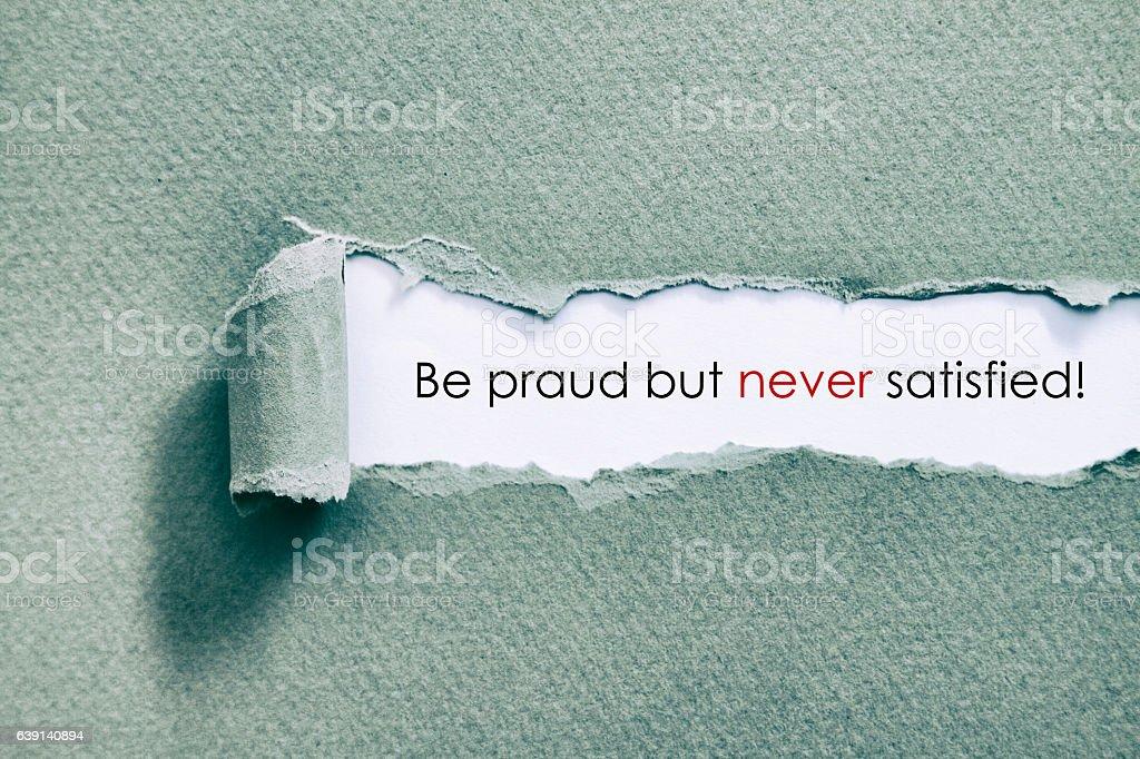 Be praud stock photo
