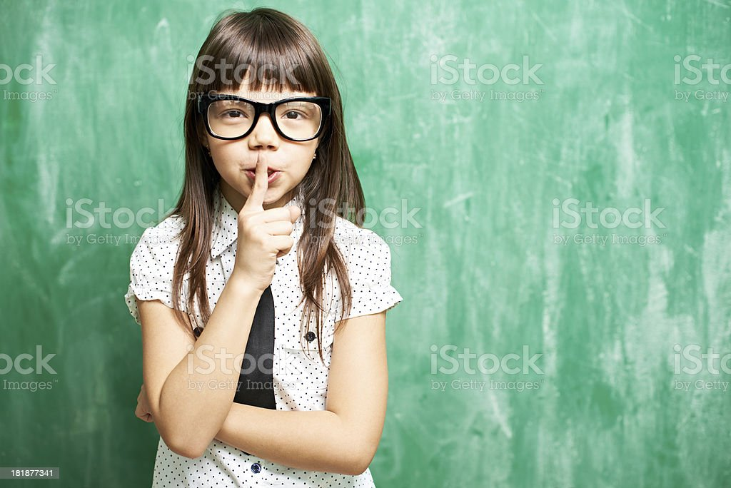Be quiet at lesson royalty-free stock photo