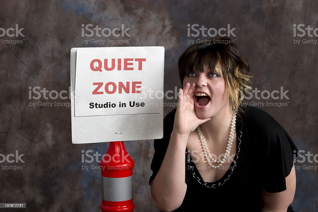 Be Quiet! stock photo